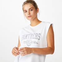 Panthers Ladies Muscle Tank Tee2