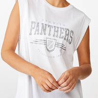 Panthers Ladies Muscle Tank Tee1