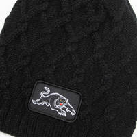 Panthers Cable Skull Beanie2