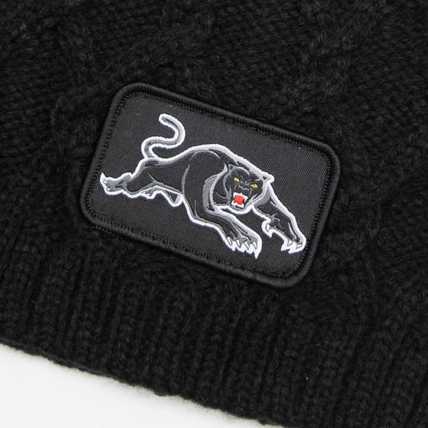 Panthers Cable Skull Beanie3