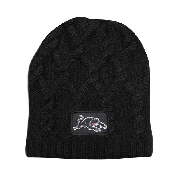 Panthers Cable Skull Beanie + Cable Knit Scarf1