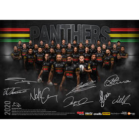2020 Panthers Signed Team Poster