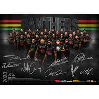 2020 Panthers Signed Team Poster0