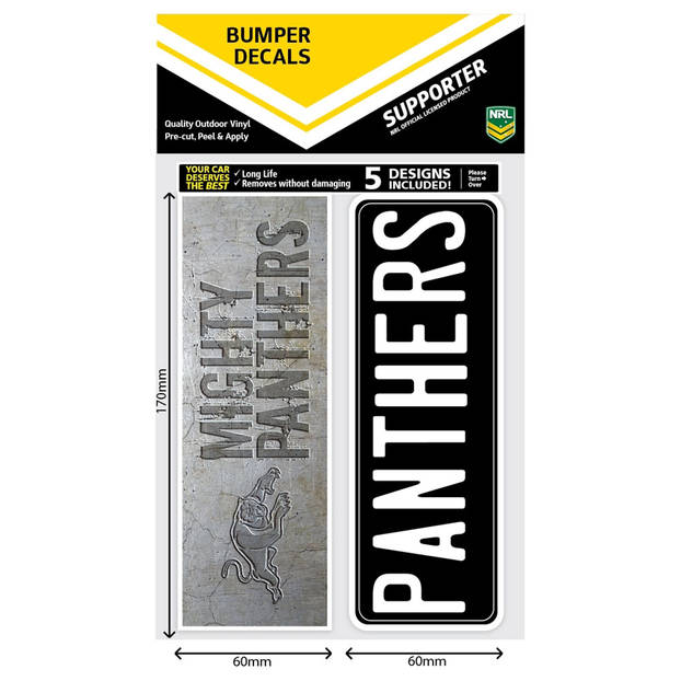 Panthers Bumper Decal Sheet1