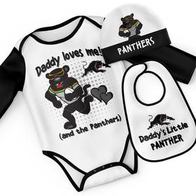 Panthers Mascot Baby Gift Set - 'Daddy Loves Me'