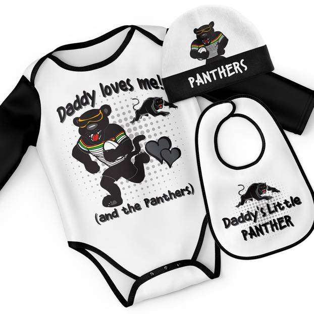 Panthers Mascot Baby Gift Set - 'Daddy Loves Me'0