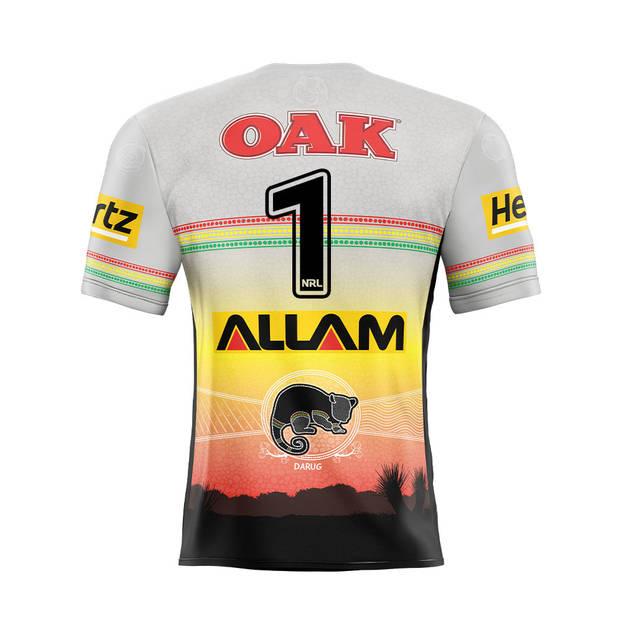 main1. Caleb Aekins Signed, Match-Worn Indigenous Jersey1