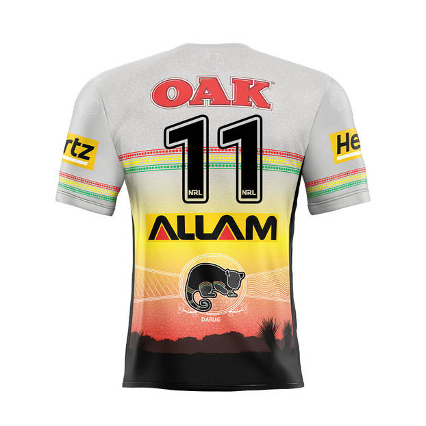 main11. Viliame Kikau Signed, Match-Worn Indigenous Jersey1