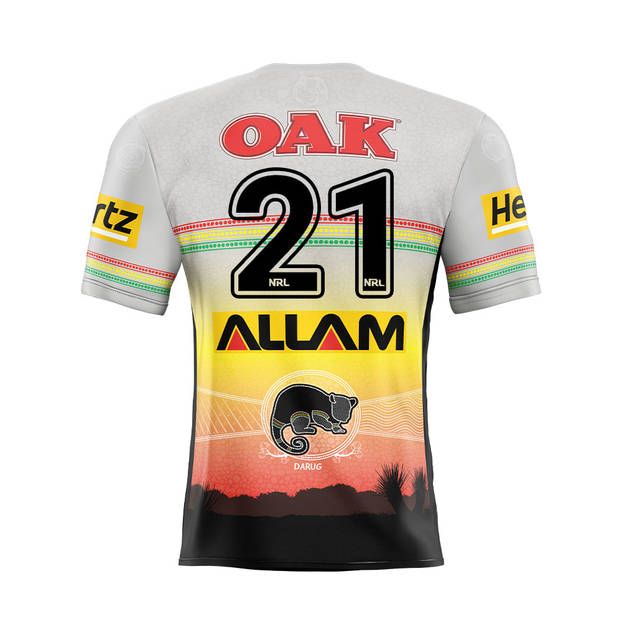 main21. Charlie Staines Signed, Match-Worn Indigenous Jersey1