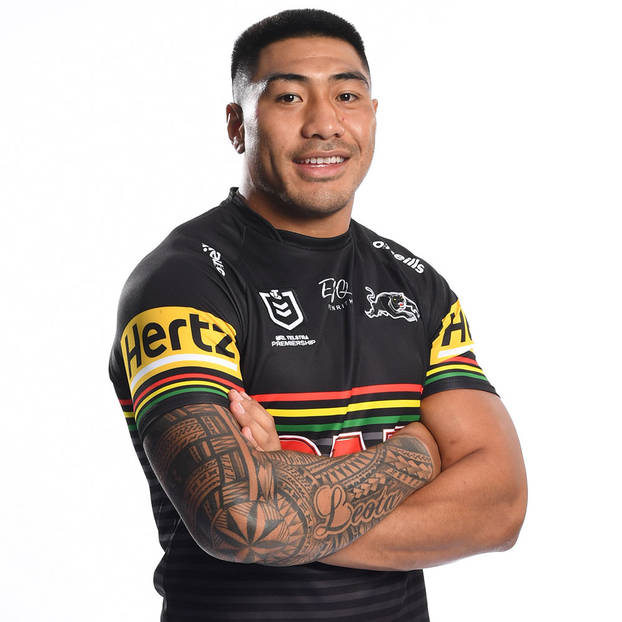 main16. Moses Leota Signed, Match-Worn Indigenous Jersey4