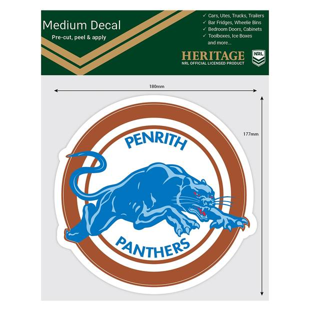 Panthers 1988 Heritage Logo Decal1