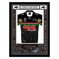 2020 Panthers Framed Signed Jersey0