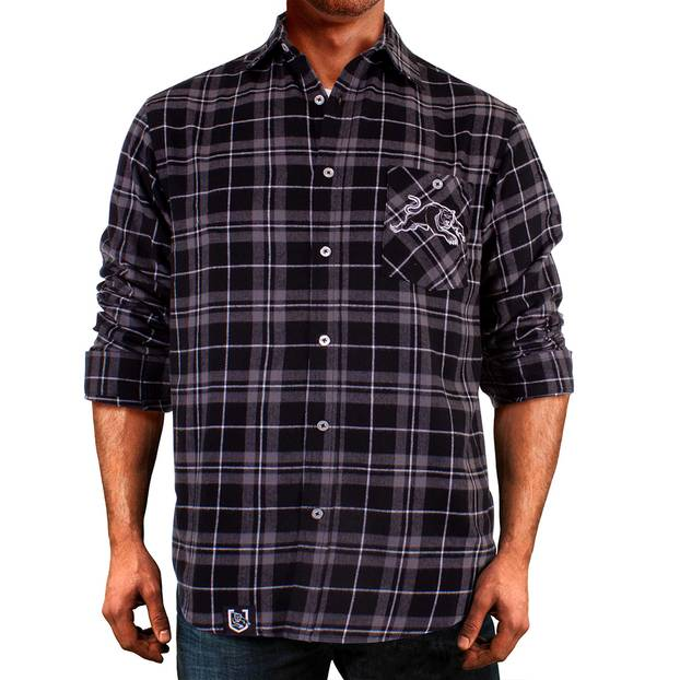 Panthers Men's Flannel Shirt1