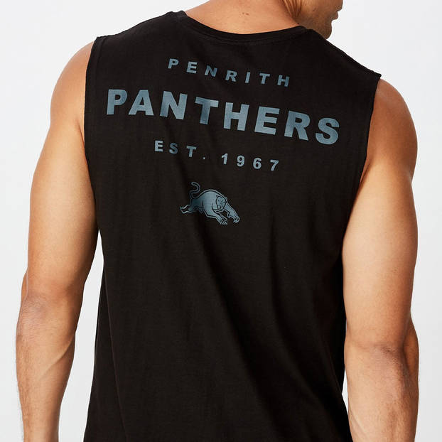 Panthers Men's Text Muscle Tank3