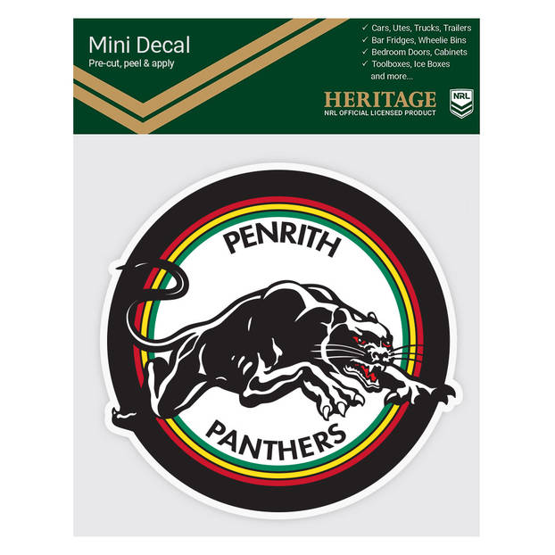 Panthers 1988 & 1991 Heritage Mini Decal1