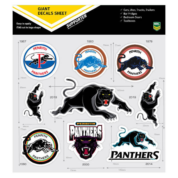 Panthers Giant Logo Stickers1