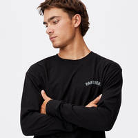 Panthers Men's Number Long Sleeve Top0