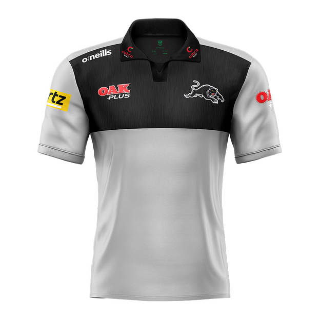 2021 Panthers Men's Grey Media Polo0