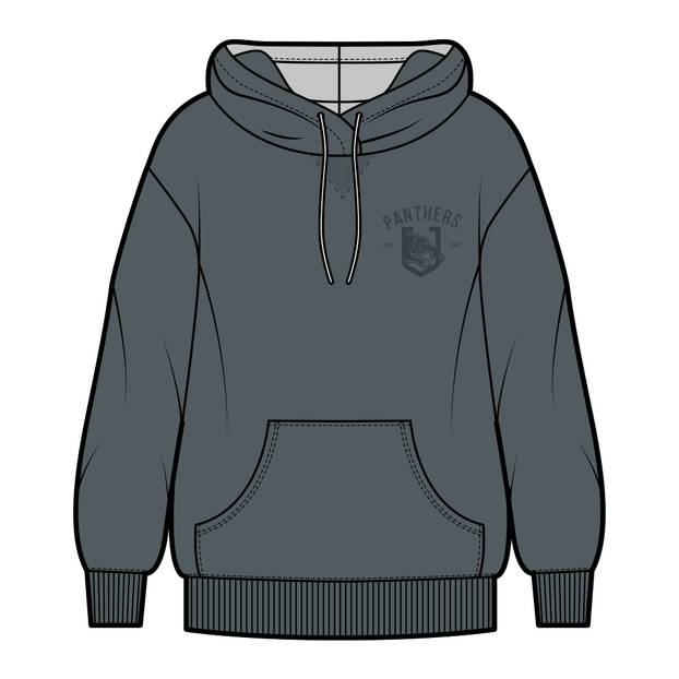 Panthers Men's Chest Embroidery Hoodie0