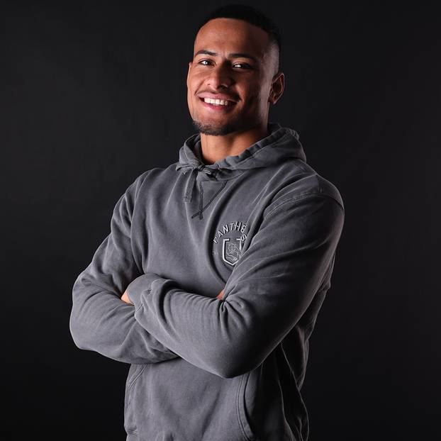 Panthers Men's Chest Embroidery Hoodie2