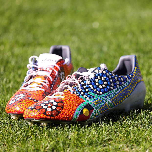 mainViliame Kikau's Signed Match Boots0