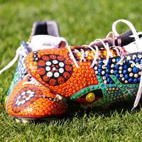 Viliame Kikau's Signed Match Boots1