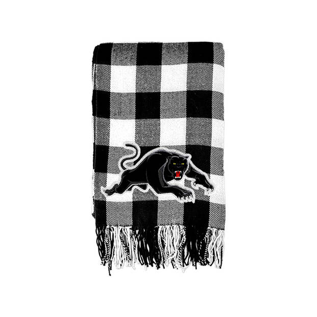 Panthers Tartan Throw0