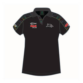 2019 PANTHERS LADIES BLACK MEDIA POLO