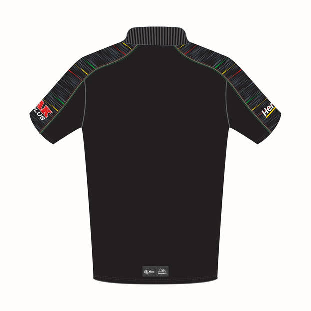 PANTHERS MEN'S BLACK MEDIA POLO1