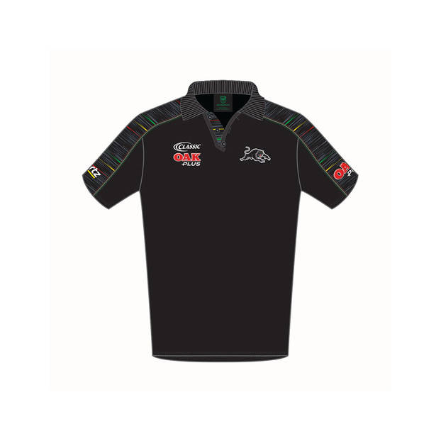 2019 PANTHERS YOUTH  BLACK MEDIA POLO0