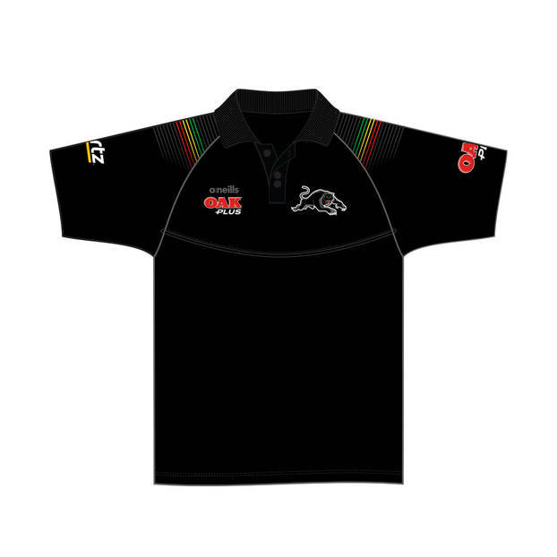 2020 Panthers Youth Black Media Polo4
