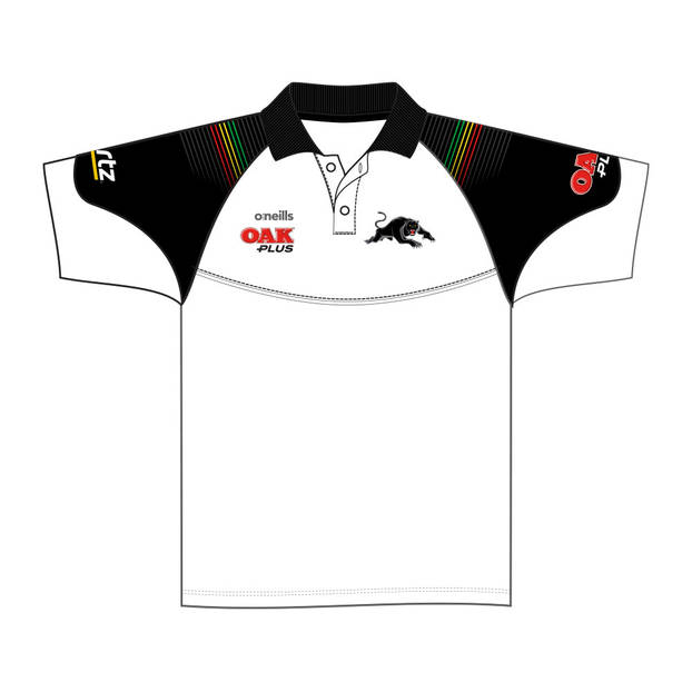 2020 Panthers Ladies White Media Polo1