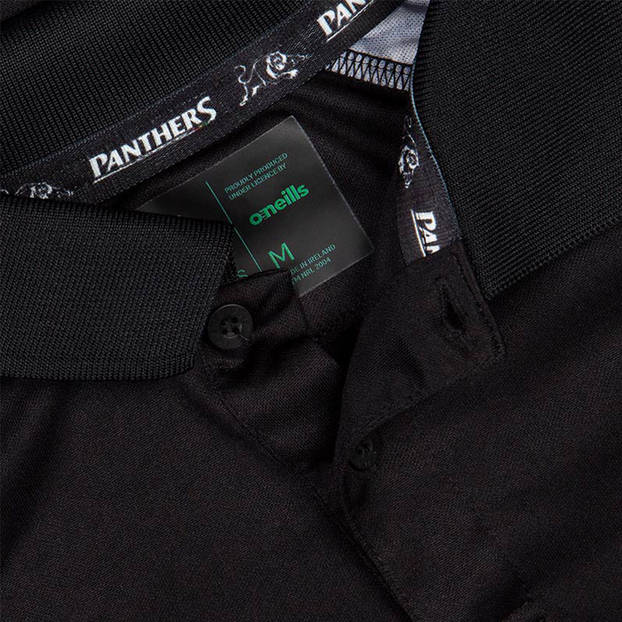 2020 Panthers Men's Black Media Polo1