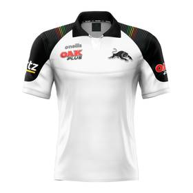 2020 Panthers Men's White Media Polo