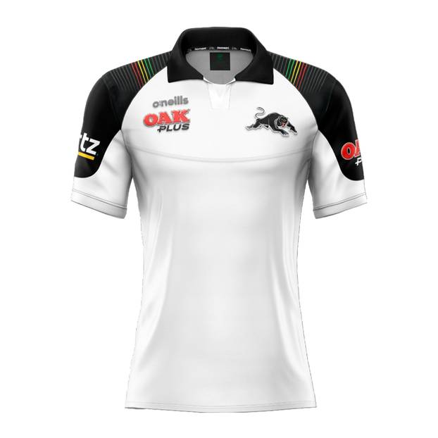 2020 Panthers Ladies White Media Polo0